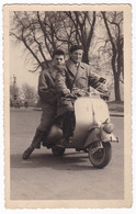 "VESPA - SCOOTER "" VESPA ""- TORINO VALENTINO -  FOTO CARTOLINA ORIGINALE 1952 - Automobili"