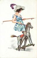 ILLUSTRATEUR  Hérouard  (edition Lapina)  Femme , Charme  La Cavalerie - Altre Illustrazioni