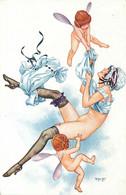 ILLUSTRATEUR  Hérouard  (edition Lapina)  Femme , Charme ,  L' Aviation - Altre Illustrazioni