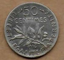 50 Centimes La Semeuse 1916 - G. 50 Céntimos