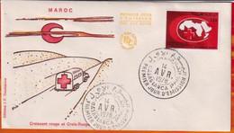 FDC -Editions  JF # Maroc-Marokko-Morocco-1978-(N° Yvert 810) Croix Rouge.Croissant Rouge- Red Cross -Roter Halbmond - Marruecos (1956-...)