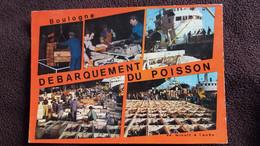 CPSM BOULOGNE SUR MER 62 LE DEBARQUEMENT DU POISSON DE MINUIT A L AUBE - Boulogne Sur Mer