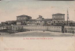 Oostende  Ostende , La Gare Maritime Entre Ostende Et Douvres ,( Légèrement Colorisée Ciel ) - Oostende