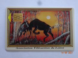 CARTE A PUCE CHIP CARD CARTE  FIDÉLITÉ ASSOCIATION TELECARTISTE DU LOIRET 45 COMBAT DE CERFS - Tarjetas De Fidelización Y De Regalo