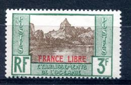 OCEANIE Surcharge France Libre Yvert 140 Neuf XXX - T 1049 - Ongebruikt