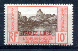 OCEANIE Surcharge France Libre Yvert 142 Neuf XXX - T 1049 - Neufs