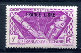 OCEANIE Surcharge France Libre Yvert 147 Neuf XXX - T 1049 - Neufs