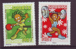 Polynesie Française - Polynesia N** MNH   2008 Y&T 840-841 Sport Tennis De Table & Haltérophilie - Nuevos