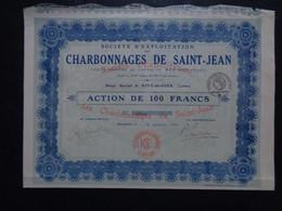 FRANCE - 42 - RIVE DE GIER 1918 - CHARBONNAGES DE SAINT-JEAN - PEU COURANT - Ohne Zuordnung