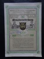 AUTRICHE - VIENNE 1900 - SCHULDUERSCHREIBUNG - TITRE DE 1 000 COURONNES, 4% - Ohne Zuordnung