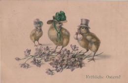 Fröhliche Ostern Küken Mit Zylinder - Pasen