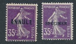 EC-218: FRANCE: Lot Avec CI (ANNULE - SPECIMEN) N°142CI1*-142* - Instructional Courses