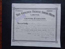 CANADA - ONTARIO - THE GOLDEN HORSE SHOE ( NEW ) - TITRE DE 3 ACTIONS DE 4 SHILLINGS - 1929 - Ohne Zuordnung