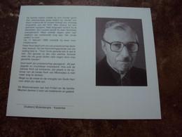 Doodsprentje/Bidpr  Eerwaarde Pater  Alois MEYNEN  Kasterlee 1917 - 1990 Herentals  Missionaris V.h. H.Hart - Religion & Esotericism