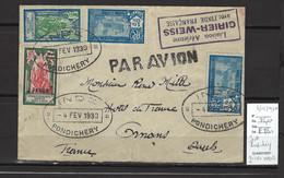 Inde Française - Pondichéry - Liaison Aérienne GIRIER - WEISS - 04/02/1930 - Covers & Documents