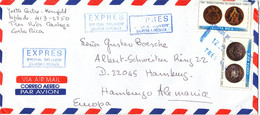 Costa Rica Express Special Delivery Air Mail Cover Sent To Germany 2000 ?? - Costa Rica
