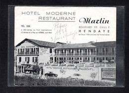 (14/06/21) 64-CPSM HENDAYE - DEPLIANT PUBLICITAIRE - Hendaye