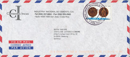 Costa Rica Air Mail Cover Sent To Germany 2000 Single Franked - Costa Rica