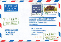 Costa Rica Express Air Mail Cover Sent To Germany 4-3-2000 - Costa Rica