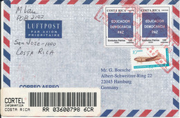 Costa Rica Registered Air Mail Cover Sent To Germany 10-5-1996 - Costa Rica