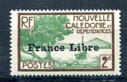 Nouvelle-Calédonie Surcharge France Libre Yvert 196 Neuf Sans Charnière - Gomme Tropicale - T 1052 - Neufs