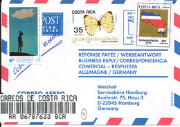 Costa Rica Registered Air Mail Cover Sent To Germany 13-10-1999 - Costa Rica