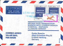 Costa Rica Registered Air Mail Cover Sent To Germany 16-8-1999 - Costa Rica