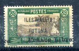 Wallis Et Futuna Surcharge France Libre Décalée Yvert 113 Neuf Adhérences - T 1053 - Unused Stamps