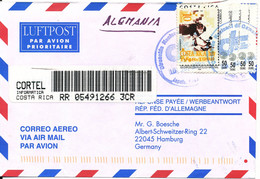 Costa Rica Registered Air Mail Cover Sent To Germany 16-7-1998 - Costa Rica