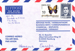 Costa Rica Air Mail Cover Sent To Germany - Costa Rica