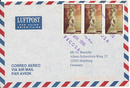 Costa Rica Air Mail Cover Sent To Germany 1-8-1996 - Costa Rica