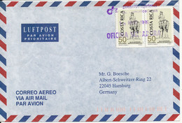 Costa Rica Air Mail Cover Sent To Germany 10-5-1996 - Costa Rica