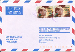 Costa Rica Air Mail Cover Sent To Germany 1998 - Costa Rica