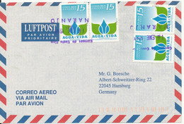 Costa Rica Air Mail Cover Sent To Germany 16-1-1998 - Costa Rica