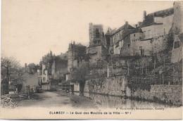 58 - CLAMECY Le Quai Des Moulins De La Ville - Clamecy
