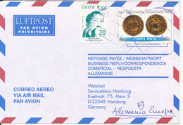 Costa Rica Air Mail Cover Sent To Germany 14-12-2000 - Costa Rica