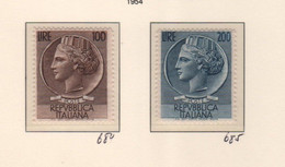 1954 Annata Completa  Serie Cpl 3 Foto MLH - 1946-60: Mint/hinged