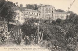 Bormes 83 (4796) Pavillon Grand Hôtel - Vue Splendide Sur La Mer,Chemins De Fer Du Sud De La France, Ligne Du Littoral. - Bormes-les-Mimosas