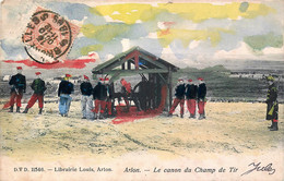Belgique - Arlon - Le Canon Du Champ De Tir - D.V.D. 11546 - A été Colorisée - Arlon
