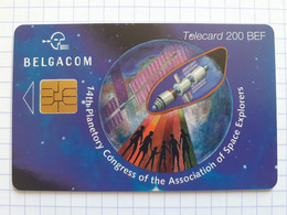 Belgacom - Puce Solaic - 14th Planetory Congress Of The Association Of Space Explorers - 200 BEF - With Chip