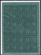 Italy - Romagna 1859 3b Forgery By Fournier In Complete 'unused' Sheet Of 30 On Piece From Special Album (h/stamped Faux - Zonder Classificatie