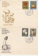 PLANTS, MUSHROOMS, SPECIAL COVER, 2X, 1989, CZECHOSLOVAKIA - Pilze