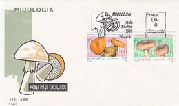 PLANTS, MUSHROOMS, COVER FDC, 1993, SPAIN - Pilze