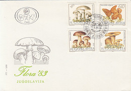 PLANTS, MUSHROOMS, COVER FDC, 1983, YUGOSLAVIA - Pilze
