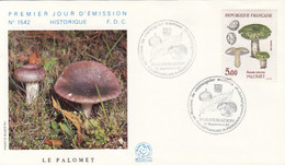 PLANTS, MUSHROOMS, COVER FDC, 1987, FRANCE - Pilze