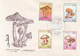 PLANTS, MUSHROOMS, COVER FDC, 1989, ALGERIA - Pilze