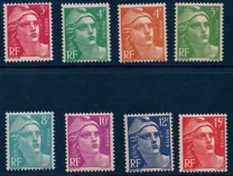 FR 1948   Marianne De Gandon - 2ème Série N°YT 806-813  ** MNH - Unused Stamps