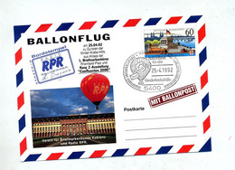 Carte Vol Par Ballon Radio Rpr   Aide Lutte Cancer - Airships