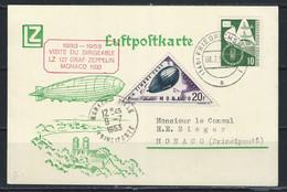 OZ-/-069- LES 50 ANS DE LA VISITE DU ZEPPELIN En PRINCIPAUTÉ (1933 - 1953) , VOIR LES IMAGES POUR DETAILS - Postmarks