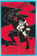 M.M. WIEN - Satan, Belzebuth, Diable Cornu Enlevant Enfant, Fouet Et Chaines - Carte Allemande - Unclassified